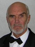 Een foto van de lookalike en imitator van Sean Connery
