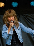 Een foto van de lookalike van Tina Turner